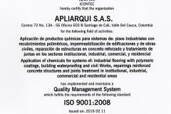 Certificado IQNET APLIARQUI S.A.S.